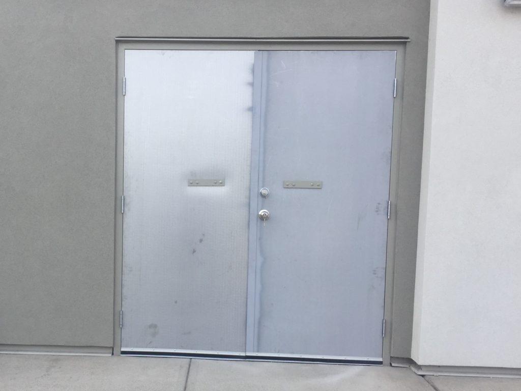 Rear steel door replacement