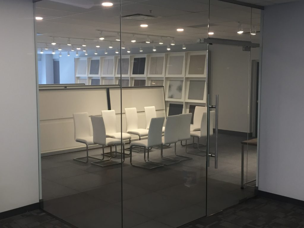 Glass Door and Glass partition minimalist look