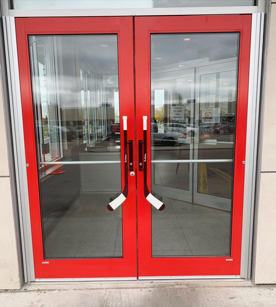 Alumicor Tim Hortons Doors Red Company
