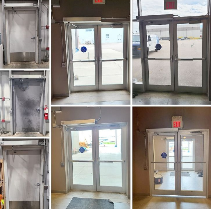 Calgary automatic door openers installed at a secret location 2020 fall